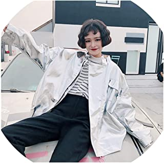 SATOSHI DUN-outwear Harajuku - Chamarra de Gran tamaño para Mujer, Primavera, otoño, Estilo Holgado