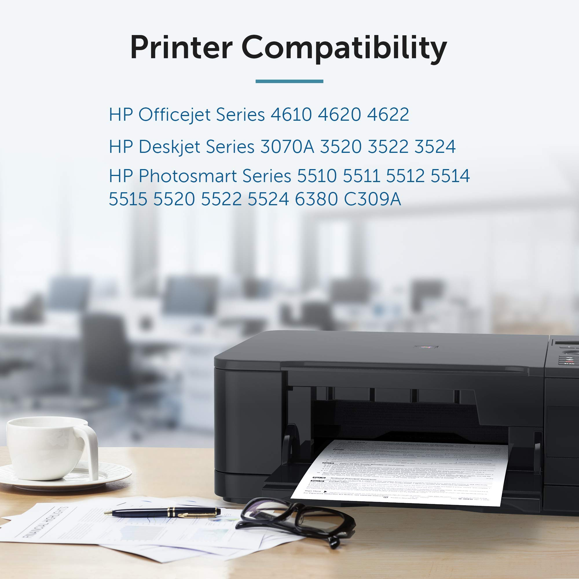 OfficeWorld 364XL cartuchos Reemplazo para HP 364 XL cartuchos de tinta Compatible para HP Photosmart 5520 7510 5510 7520 5522 5524, HP Officejet 4620 4622, HP Deskjet 3520 3070A 4 Negro: Amazon.es: Oficina y papelería