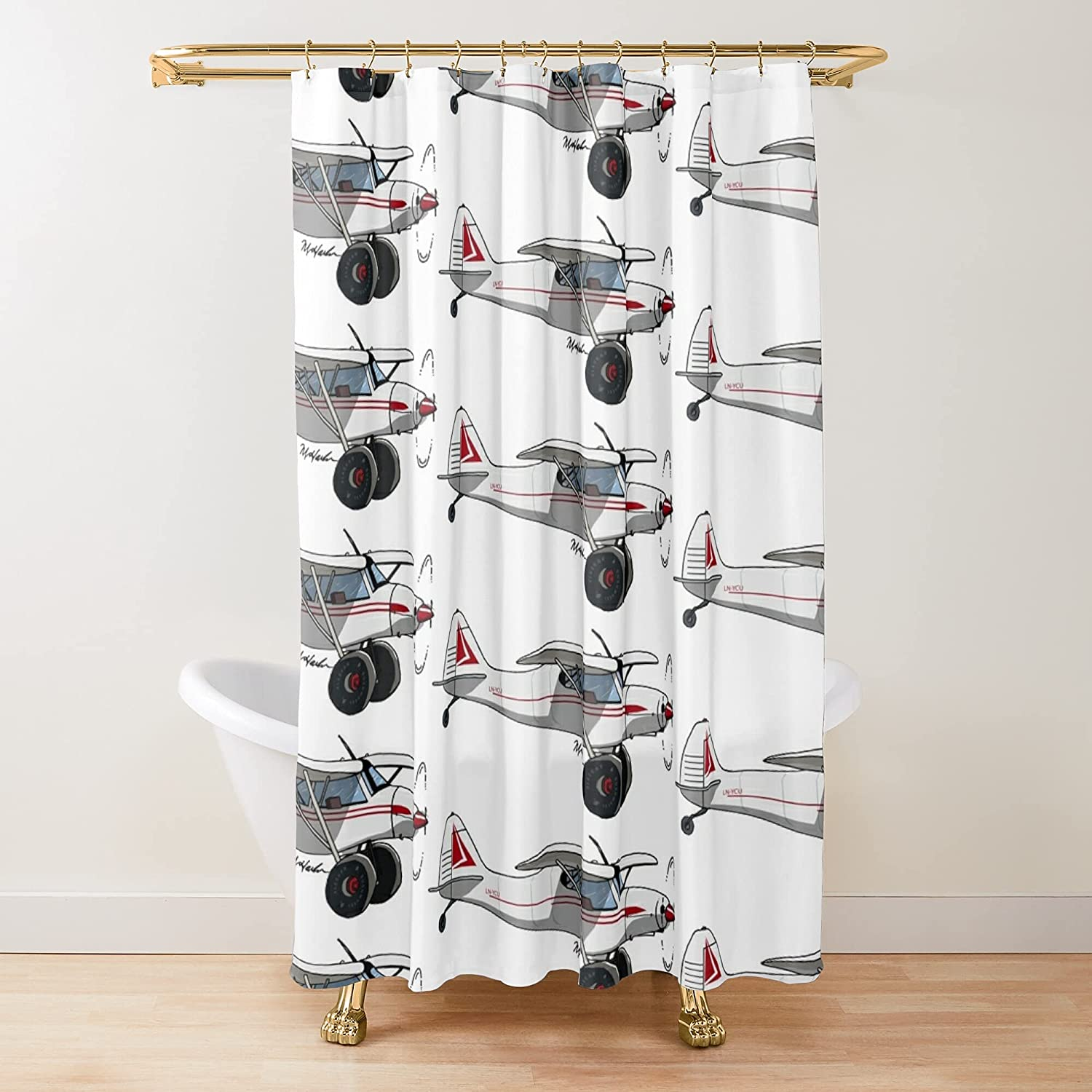 Savage Classic Zlin Aviation Lc Prin Ycu Curtains Purchase Outlet ☆ Free Shipping Fabric Shower