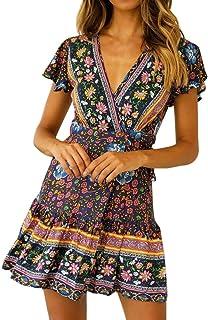 Vestidos para Mujer Vestidos Largos De Verano Casual Vestidos De Fiesta Cortos Elegantes para Bodas Moda Mujer 2019 Vestidos Vestidos Cortos Verano Vestidos Vestidos