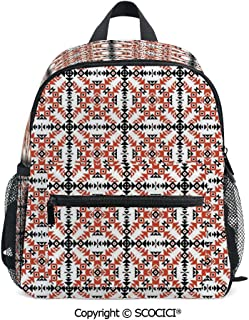 SCOCICI Stylish Children's Bookbag Ethnic Primitive Aztec Back-to-School Gift