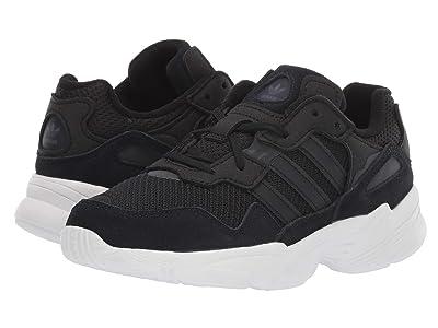 adidas Originals Kids Yung-96 C (Little Kid) (Black/White) Kids Shoes
