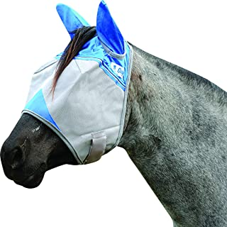 Cashel Crusader Standard Fly Mask with Ears and Blue Trim, Benefit Wounded Warriors - Size: Warmblood