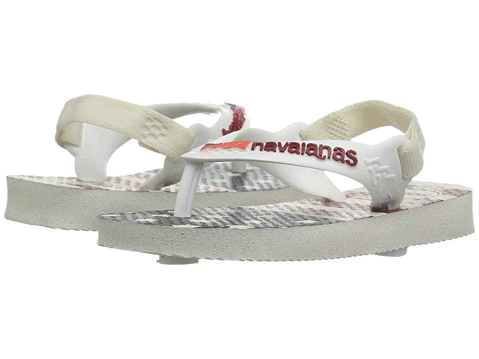 Havaianas Kids USA Sandals (Toddler) (White) Kids Shoes
