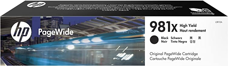 HP 981X High Yield Black Original PageWide Cartridge (L0R12A)