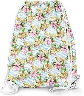 Aloha Pineapple Stripes Drawstring Bag - Large (13.3 x 17.3)