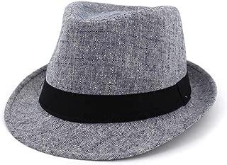 LiWen Zheng Outdoor Travel Male Women Couples Hats Jazz Hats Straw Fashion Sun Hat Fedora Hat Wave Stripes Decorative Shade Straw Hat