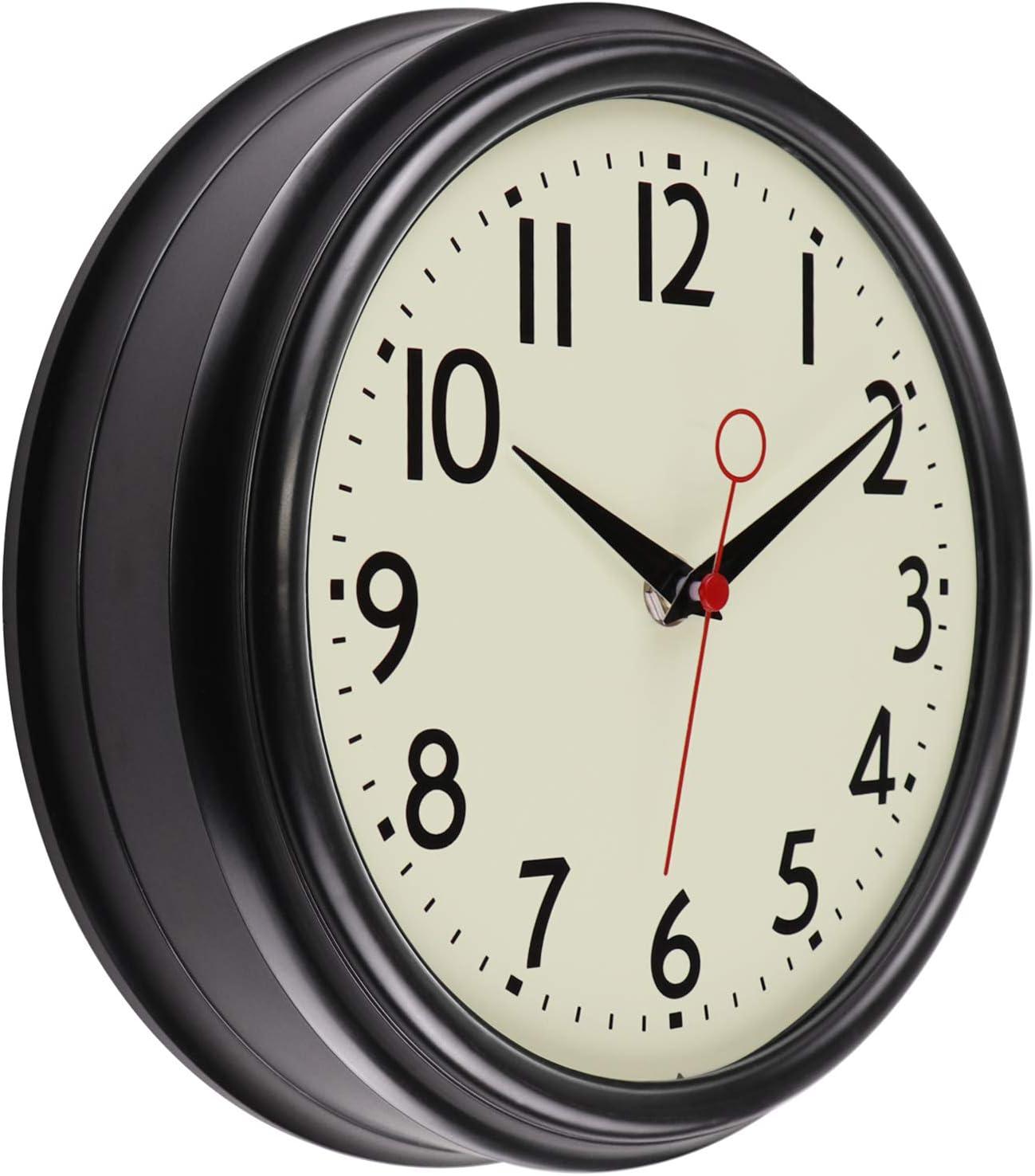 Lumuasky Retro Wall Clock 9.5 Inch 50's Louisville-Jefferson County Mall R Design Manufacturer regenerated product Kitchen Vintage