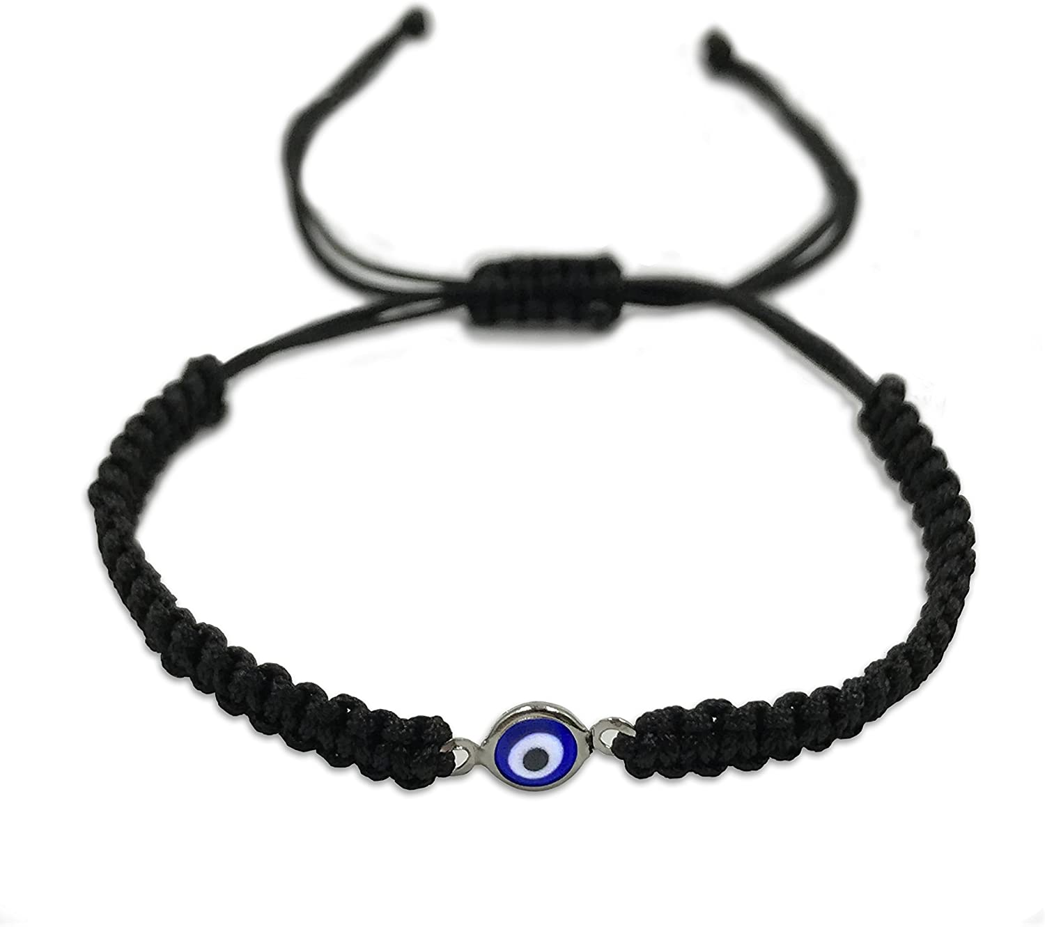 JIAOGE 2Pcs Evil Eye Bracelets Hand-Woven Adjustable Red Rope Cord Thread Braided Anklets Protection Lucky Best Wishes Bracelets for Women Men Girls