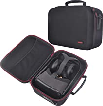 Fashion Travel Case for Oculus Quest with Customizable Foam Compatible with Oculus Quest VR Headset and Quest Controllers Impact Protection All-in-one VR Gaming Headset Storage Box (Black)