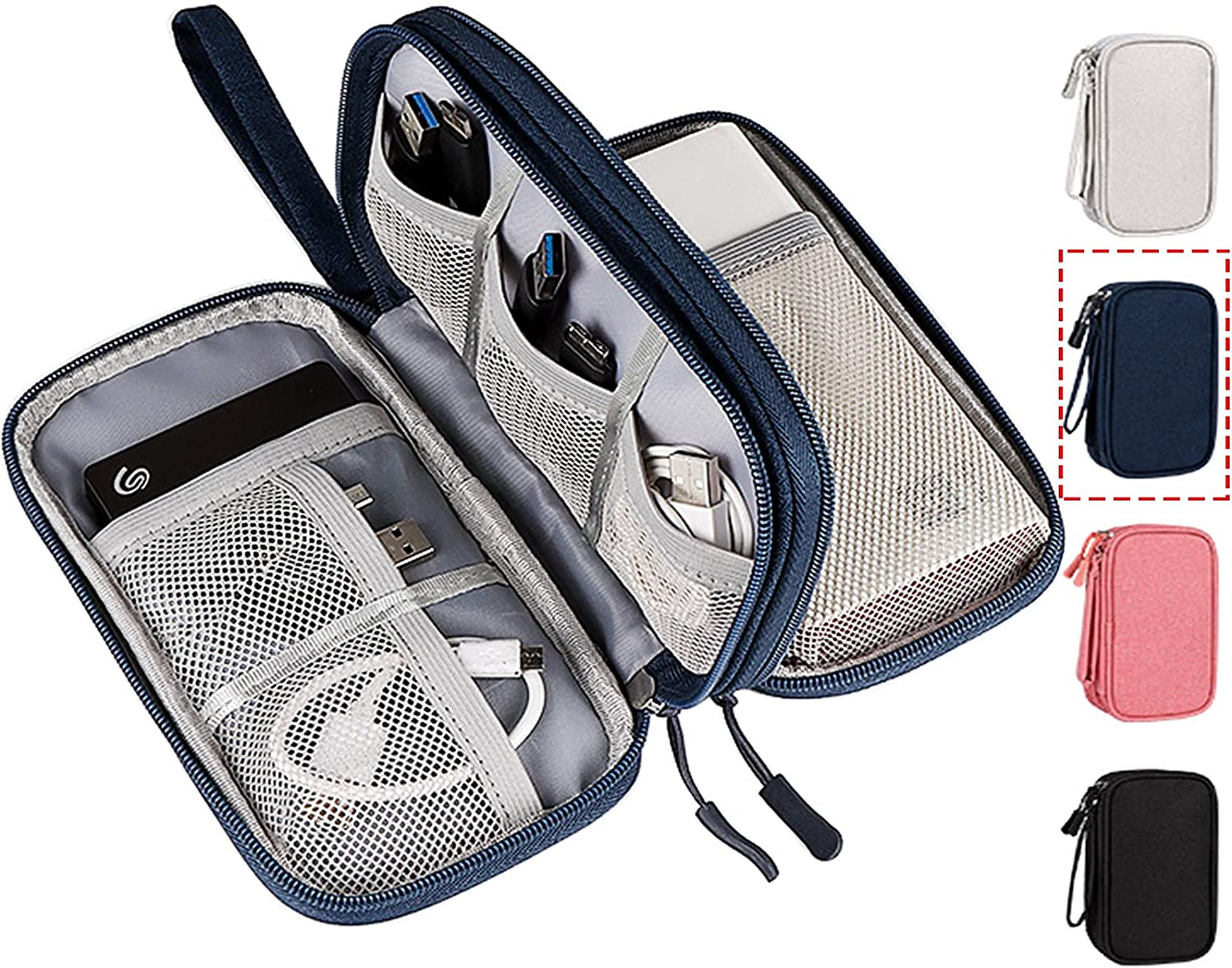 Electronic Accessories Case, Universal Cable Cord Holder Organizer/Electronic Case, Waterproof Portable Cable Organizer Bag, USB Flash Drives Bag, Cable case Bag, USB Case Organizer,USB Charger Bag