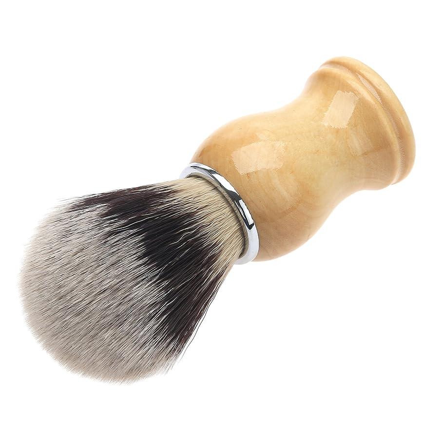 リズミカルな呼吸無効メンズ用 髭剃り ブラシ シェービングブラシ 木製ハンドル 男性 ギフト理容 洗顔 髭剃り