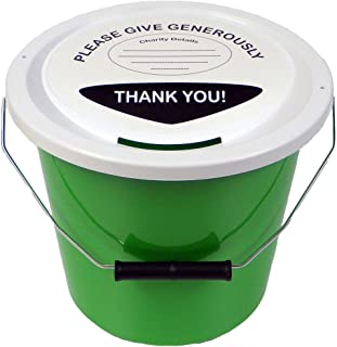 Charity Money Collection Bucket 5 Litres - Green