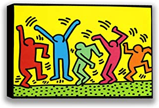 Funny Ugly Christmas Sweater Keith Haring Pop Art The Dancers Street Art Keith Haring Canvas Art Prints for Wall Decor American Street Art Style Colorful Room Design 8