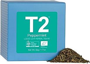 T2 Tea Organic Peppermint Loose Leaf Herbal Tea in Gift Cube 50 g, 1 x 50 g