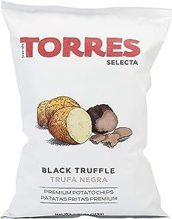 Patatas Fritas Torres Black Truffle Premium Potato Chips Big Bag (1 x 4.41 Ounce)
