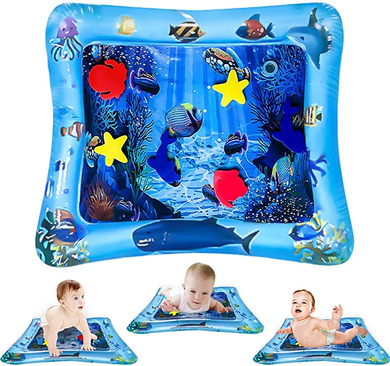 ToyerBee Tummy Time Water Mat Baby Toys Water Play Mat For 3 6 9 12 18 Months Baby Toddler Newborn Infant Sensory Activity Center Toys