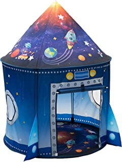 WillingHeart Rocket Ship Play Tent for Kids, Astronaut Spaceship Space Themed Pretend Playhouse Indoor Outdoor Games Party...
