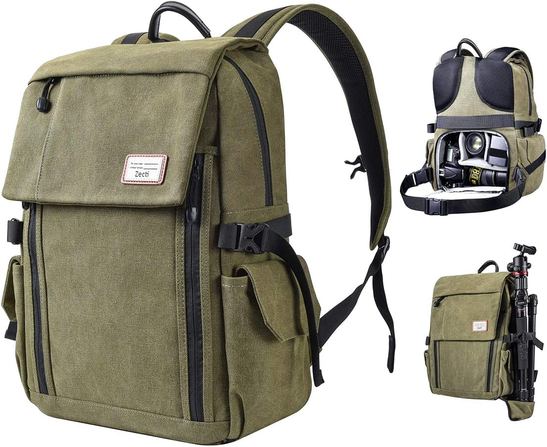 Camera Luxury goods Backpack Zecti Large DSLR Anti-Th Max 72% OFF Canvas