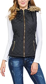 Auliné Collection Womens Quilted Zip Up Lightweight Padding Vest