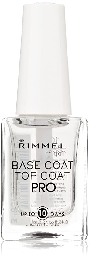 細心の気づくなる応援するRIMMEL FRENCH MANICURE PRO UP TO 10 DAYS #100 BASE & TOP COAT