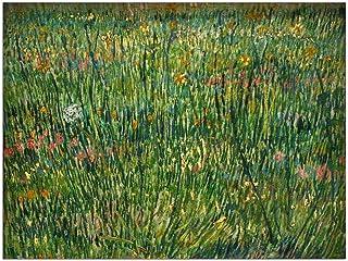 ArtPlaza TW90774 Van Gogh Vincent - patch of grass decoratieve panelen, hout MDF, meerkleurig, 80x60 cm