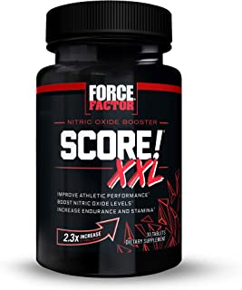 Force Factor Score! XXL Nitric Oxide Booster Supplement for Men with L-Citrulline, Black Maca, and Tribulus to Improve Ath...