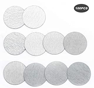 YUFUTOL 2 Inch 50mm Sanding Discs Sandpaper Pads Plate 60 80 100 120 180 240 320 400 600 1000 Grits Sandpapers for Hand Held Bowl Sander, Pack of 100