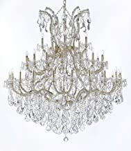 "Maria Theresa Crystal Chandelier Chandeliers Lighting H 60"" W 52"" Made with Spectra Crystal - Reliable Crystal Quality by ..."