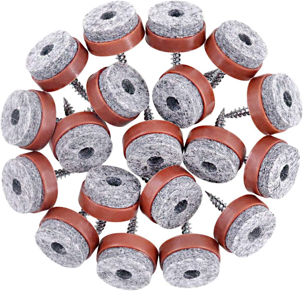 Swpeet 52Pcs 20mm Brown Furniture Slip Felt Non Shipping included Pads P Ranking TOP10