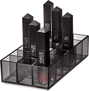 iDesign Compartment Divided Lipstick Organiser from the Signature Series by Sarah Tanno, Long RPET Makeup Organiser Storag...