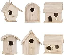 Darice Bulk Buy DIY Wood Birdhouse Wren Promo Assortment 5-7 inches Each (6-Pack) 9180-09