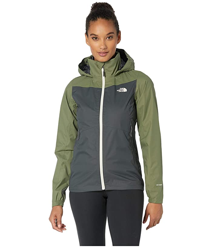 The North Face PR Resolve Plus Jacket (Asphalt Grey/Four Leaf Clover) Women