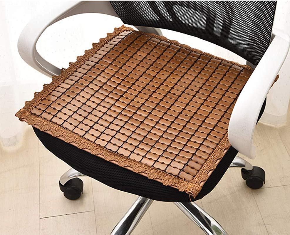 QTQHOME Square Seat Cushioning Chair Cushion Comfortable Breathable Indoor Outdoor Chair Pad Cool Pad Brown 2424in