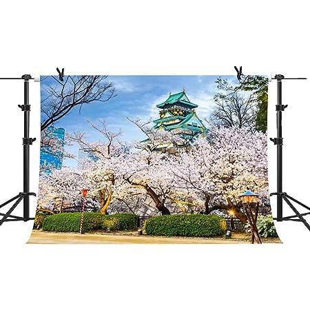Cherry Blossom 10x12 FT Photo Backdrops,Dreamy Japanese Nature in Spring Theme Sakura Tree Branch Artwork Background for Kid Baby Boy Girl Artistic Portrait Photo Shoot Studio Props Video Drape Vinyl