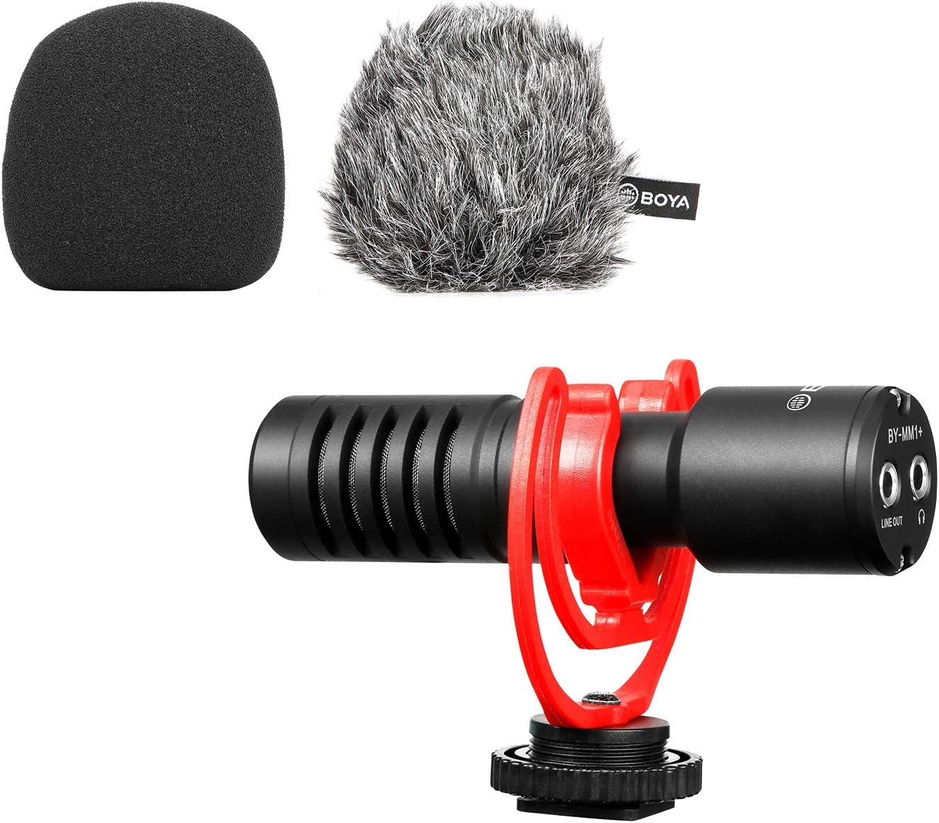 BOYA Spasm price Super-Cardioid Shotgun Microphone Mic BY-MM1+ Stereo Max 90% OFF Mini