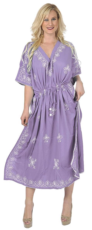 Loose Kimono Women's Rayon Beach wear Dress kaftan night wear Long Kaftan Dress
