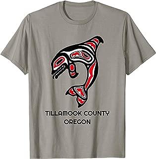 Tillamook County Oregon NW Native American Indian Orca Whale T-Shirt