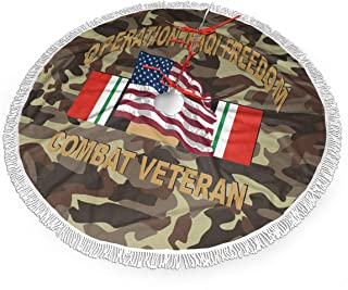 ETGMK Operation Iraqi Freedom Combat Veteran Christmas Tree Skirt 30