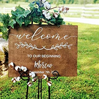 Welcome to Our Beginning Wedding Decal Personalized Name and Date Wall Decal Wedding Mirror Board Removable Vinyl Sticker