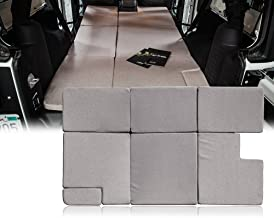 Xprite Brown Sleeping Mattress Camping Pad Bed Platform, NitePad Sand Premium 1.5-inch Thick Portable Trunk Cushion for 2007-2018 Jeep Wrangler JKU