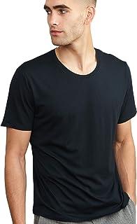 Camiseta Premium Ultra Suave para Hombre, Pack de 1, Algodón Orgánico & Modal, Cuello Redondo o en Pico, Ligera, Transpira...
