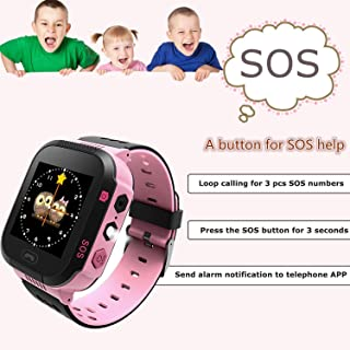 Heyean Kids Smart Watch Digital Touch Screen Kid Watch with Alarm Clock Flashlight, Supports Voice Calls and Voice Chat Supported Chirstmas Birthday Gift