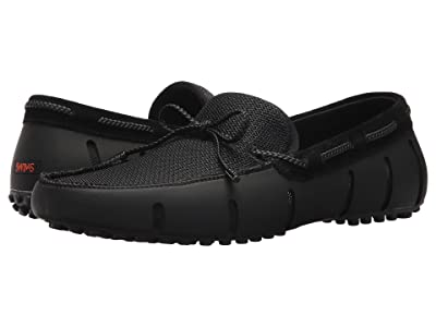 SWIMS Braided Lace Loafer Driver (Black/Graphite) Men