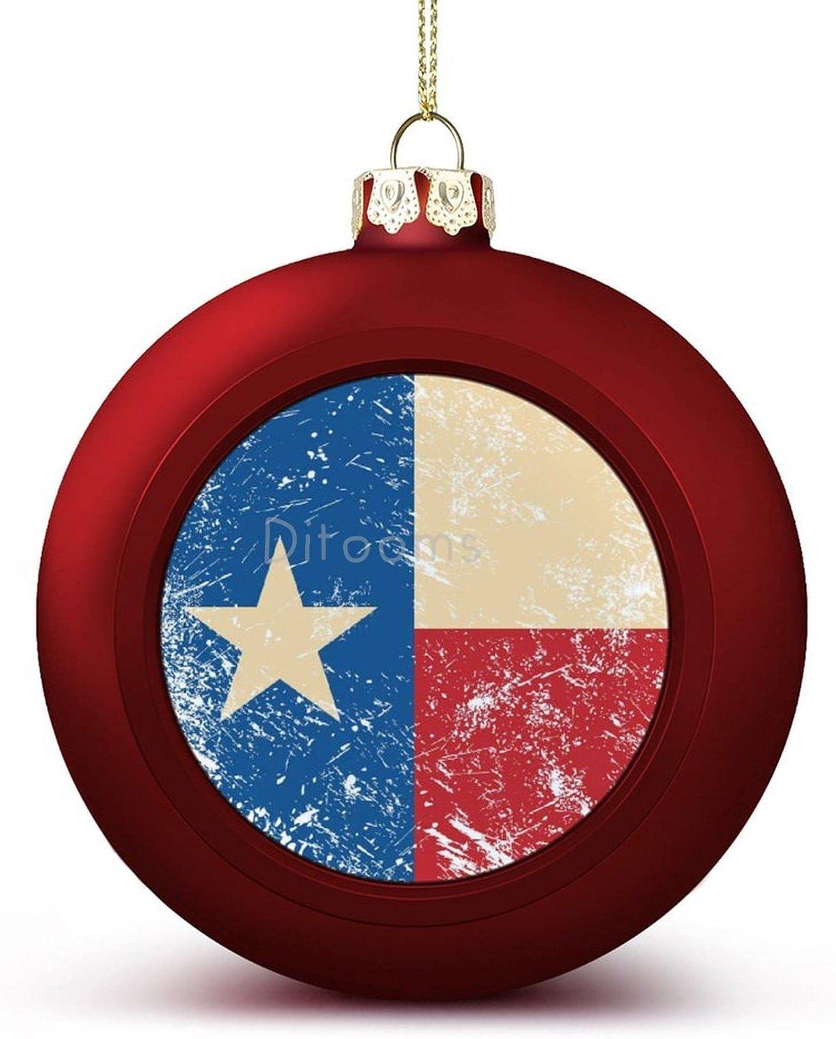 4PCS online shopping Christmas Balls Popular overseas Ornaments Retro Flag Texas Decora