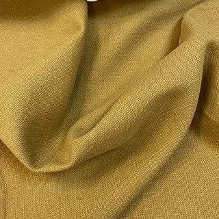 Kt Kilotela Polsterstoff, einfarbig, Panama-Baumwolle, Used-Optik 100 x 140 cm Senf