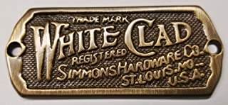 Antique Ice Box Name Plate, Solid Brass Antiqued, Ice Box Label in Non Lacquered Brass, Reproduction of Antique White Clad Ice Box Hardware, Beautiful Cabinet Name Plate