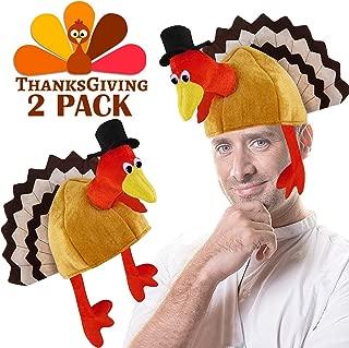 Thanksgiving Turkey Hats Novelty Plush Turkey Hat for Festival Costume Accessories