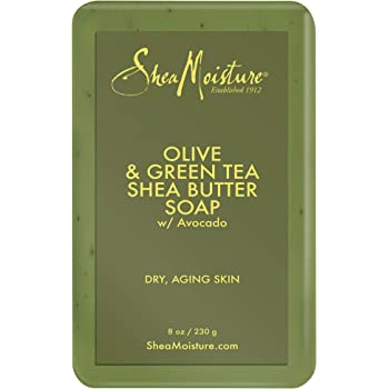 Sheamoisture Shea Butter Soap for Dry, Aging Skin Olive Oil and Green Tea Extract to Soothe Skin 8 oz