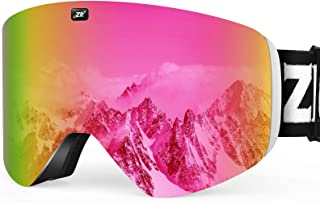 ZIONOR X11 Ski Goggles Magnetic Cylindrical Snowboard Snow Goggles for Men Women